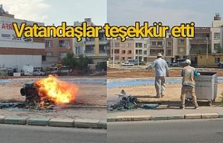Haliliye Belediyesi ekipleri anında müdahale etti