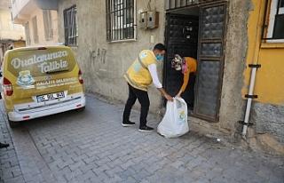Haliliye Belediyesi Karantina evlerine ulaşmaya devam...