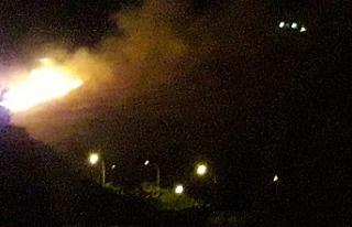 Akabe'de korkutan yangın!