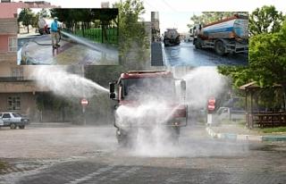 Haliliye'de her yer dezenfekte ediliyor