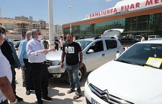 Urfa'da açık oto pazarı açıldı