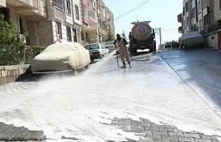 Haliliye Belediyesi dezenfekte çalışmalarını...