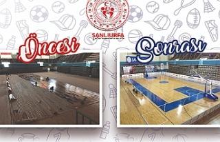 Spor salonu yenilendi