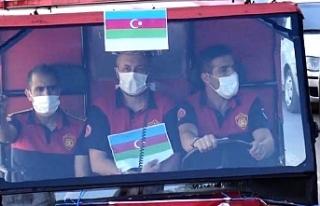 Urfa'da ki itfaiyecilerden Azeri Kardeşlere...