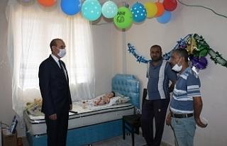 Başkan Yalçınkaya'dan bebeğe yardım eli
