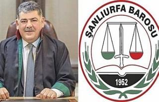 Urfa Baro Başkanı'na soruşturma açıldı