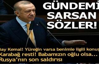 Erdoğan'dan grup toplantısında konuştu
