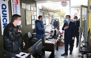 Başkan Yıldız Birecik esnafını ziyaret etti