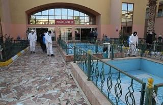 Hastaneler dezenfekte edildi