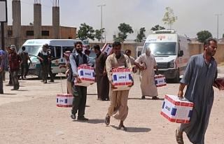 AFAD'ın yardımları Barış Pınarı Bölgesi'ne...