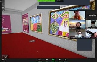 Urfa'da online resim sergisi...