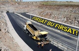 Urfa Büyükşehir asfalt çalışmalarını hızlandırdı