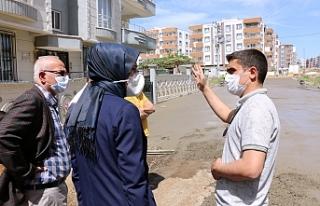 Çakmak, beton yol çalışmalarını inceledi