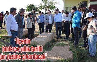 Viranşehir'de arkeolojik kazı çalışmaları...