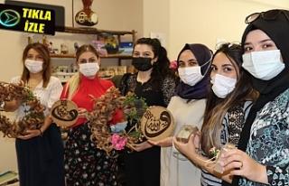 Büyükşehir'de kadınlar sanata yoğunlaşmaya...