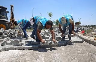 Haliliye'de 4 mahallede üst yapı çalışmaları...