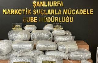 Urfa'da kilolarca esrar maddesi ele geçirildi
