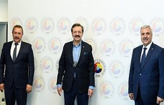 Urfalı iki Başkan Hisarcıklıoğlu ile görüştü