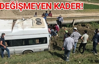 Urfa'ya dönüş yolunda kaza yaptılar