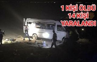 Urfalı Tarım işçilerini taşıyan minübüs kaza...