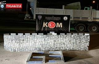 Suriye'den getirilen binlerce kaçak sigara ele...