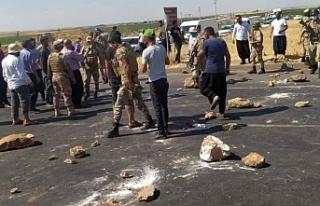 Viranşehir'de de çiftçiler eylem yaptı