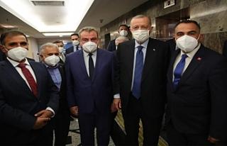 Erdoğan'la görüştüler...