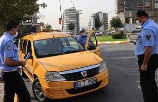 Şanlıurfa'da ticari taksiler denetlendi