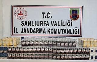 Urfa'da sigara kaçakçılığına darbe!