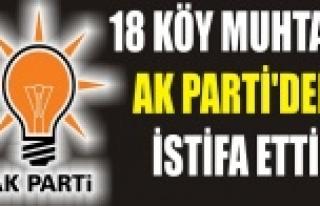 AK Parti Urfa cephesinde şok istifalar!