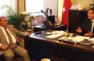 Akyürek'ten ŞUSKİ Müdürü'ne ziyaret