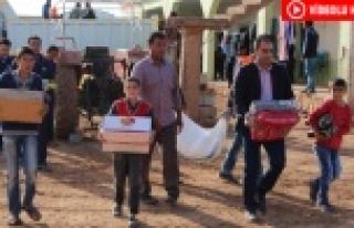 Başkan Atilla'dan Göçerlere Gıda Yardımı