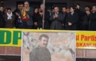 BDP'li vekile kurbanlı karşılama