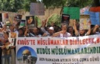 Dünya Kudüs Günü'nde İsrail protesto edildi