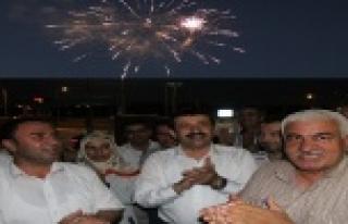 Eyyübiye'de havai fişekli kutlama