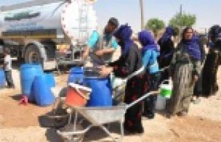 Fırtına mağdurlarına su desteği
