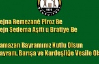 Hilvan Belediye Yönetiminden Kürtçe ve Türkçe...