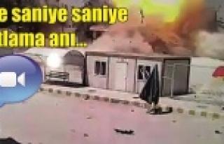 İşte Kobani'deki patlama anı...