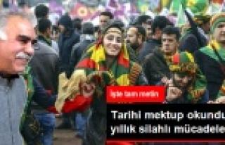 İşte Öcalan'ın barış dolu mektubunun tamamı...