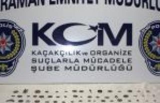 Karaman'da 95 Parça Tarihi Eser Ele Geçirildi