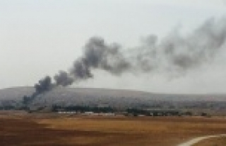 Kobani'yi kara bulutlar kapladı