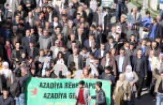 Öcalan'a özgürlük için yürüdüler