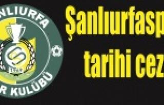 PFDK'dan Şanlıurfaspor'a şok ceza