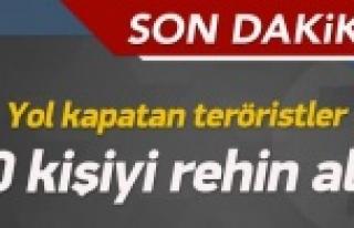 PKK vatandaşları rehin aldı