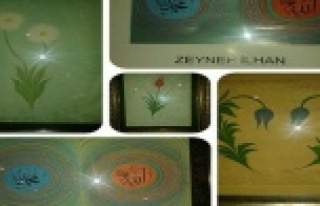 Şaheser Ebru Sanatı eserlerine yoğun ilgi...