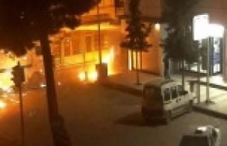 Suruç'ta PKK Yandaşlarından Motoloflu Gösteri