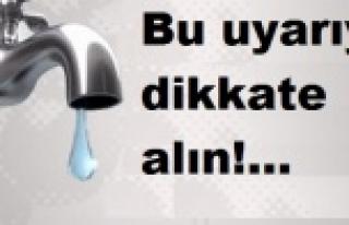Urfa Belediyesi suları kesiyor...