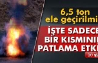 Urfa'da ele geçirilen bomba patlatıldı!