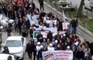 Urfa'da yine protesto vardı!