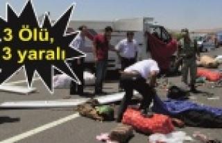 Urfa'ya gelirken kaza geçirdiler!